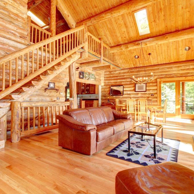 Log Home Interior for Sale Mt Hood